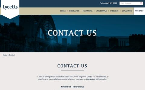 Screenshot of Contact Page lycetts.co.uk - Lycetts Contact Us | Lycetts - captured Nov. 15, 2016