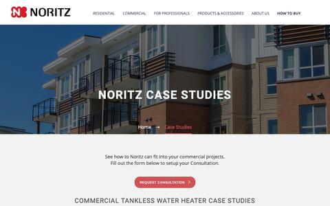 Screenshot of Case Studies Page noritz.com - Case Studies | Noritz - captured Nov. 7, 2018