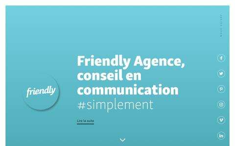 Screenshot of Home Page friendly-agence.com - Friendly Agence - captured June 6, 2017