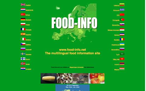 Screenshot of Home Page food-info.net - Food-Info - captured June 22, 2017