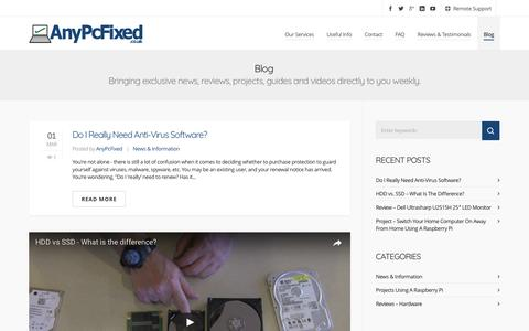 Screenshot of Blog anypcfixed.co.uk - Blog - AnyPcFixed - Leicester Laptop & PC Repair, Service & Upgrade - captured May 30, 2017