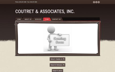Screenshot of Team Page coutret.com - Team - Coutret & Associates, Inc. - captured Oct. 3, 2014