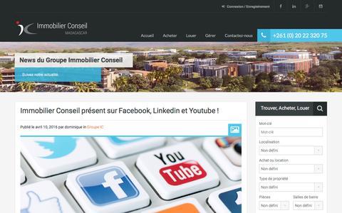 Screenshot of Press Page immoconseilmada.com - News – Immobilier Conseil Madagascar - captured Nov. 18, 2016