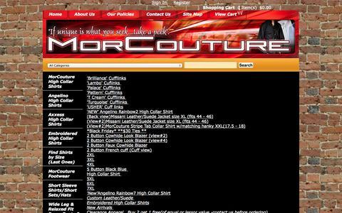 Screenshot of Site Map Page morcouture.com - morcouture.com - captured Oct. 8, 2014