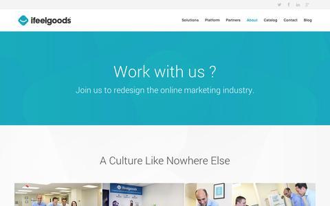 Screenshot of Jobs Page ifeelgoods.com - Careers | Ifeelgoods - captured Sept. 12, 2014