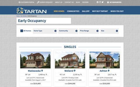 Early Occupancy   Tartan Homes