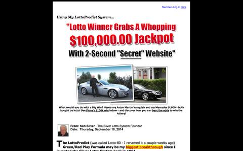 Screenshot of Home Page lotto-80.com - Predict Your Lotto Play With Lotto-80 - captured Sept. 19, 2014
