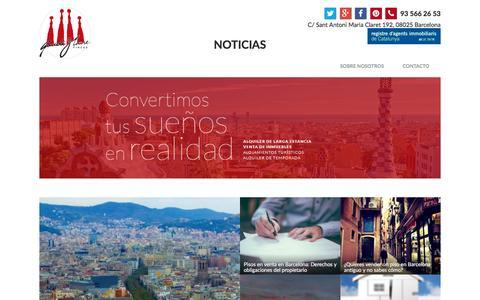 Screenshot of Blog Press Page gaudi-house.es - Home - Gaudi-House Noticias - captured Oct. 28, 2016
