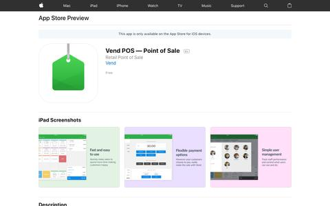 Vend POS — Point of Sale on the AppStore