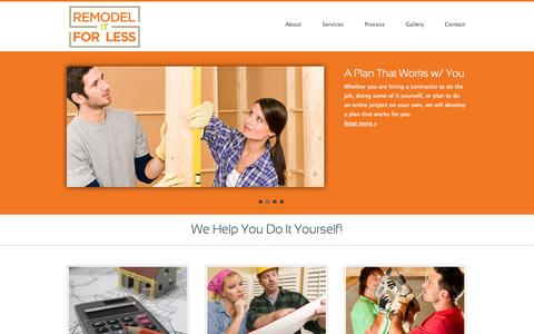 Screenshot of Home Page remodelitforless.com - Home Remodeling Help | New Jersey | Remodel It For Less - captured Sept. 26, 2014