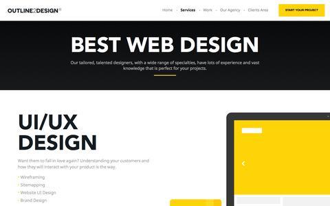 Screenshot of Services Page outline2design.com - Adaptive Web Design | Conversion Optimization Experts – Outline2Design - captured Sept. 1, 2016