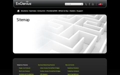 Screenshot of Site Map Page engeniustech.com - Sitemap - captured Sept. 25, 2014