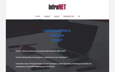 Screenshot of Home Page infranet.com - infraNET | Internet Marketing Done For You - captured Nov. 23, 2016
