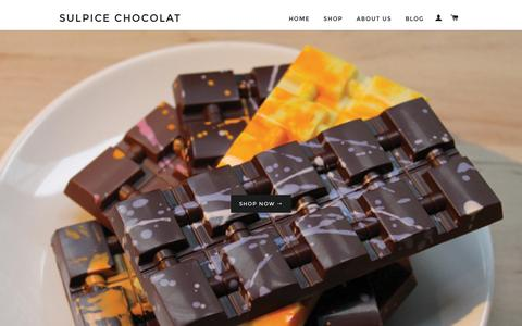 Screenshot of Home Page sulpicechocolat.com - The Best Chocolate Bars & The Best Chocolate Truffles – Sulpice Chocolat - captured Feb. 22, 2016