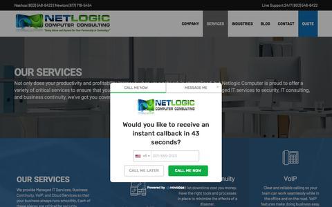 Screenshot of Services Page netlogiccomputer.com - Services | Netlogic Computer Consulting - captured Oct. 3, 2019