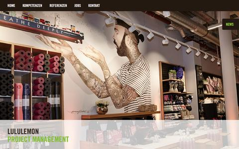 Screenshot of Press Page loom-retaildesign.com - loom retail.design GmbH   LULULEMON - loom retail.design GmbH - captured Dec. 13, 2015