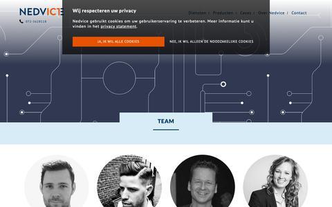 Screenshot of Team Page nedvice.nl - Archief Team - Nedvice ICT Alkmaar - captured Nov. 17, 2018