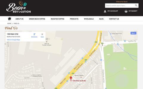 Screenshot of Maps & Directions Page beanrevolution.com.au - Find Us - captured Oct. 29, 2014