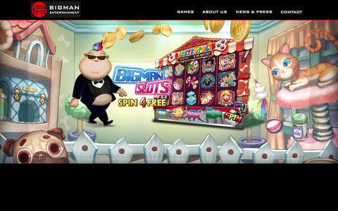 Screenshot of Home Page bigmanent.com - BIGMAN Entertainment, Inc - captured Sept. 19, 2014