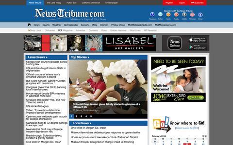 Screenshot of Home Page newstribune.com - News Tribune - captured Feb. 11, 2016