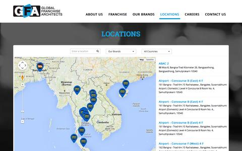 Screenshot of Locations Page gfacorp.com - GFA Locations - Find a Store - captured Jan. 15, 2016