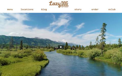 Screenshot of Home Page lazydogrestaurants.com - Lazy Dog Restaurant & Bar - captured Sept. 27, 2018