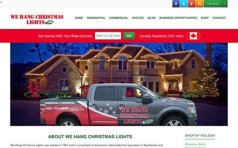 Screenshot of wehangchristmaslights.com - WHCLWe Hang Christmas Lights - captured Aug. 14, 2015