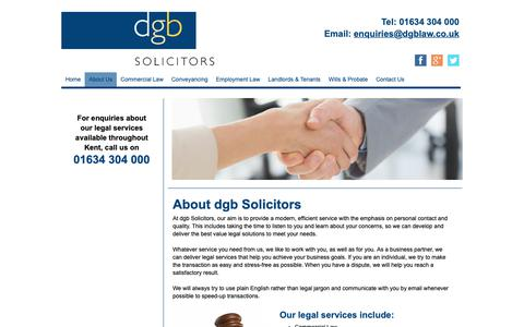 Screenshot of About Page dgblaw.co.uk - Legal services available throughout Kent - captured Oct. 9, 2018