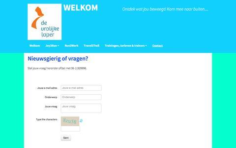 Screenshot of Contact Page devrolijkeloper.nl - Contact - captured Aug. 1, 2016
