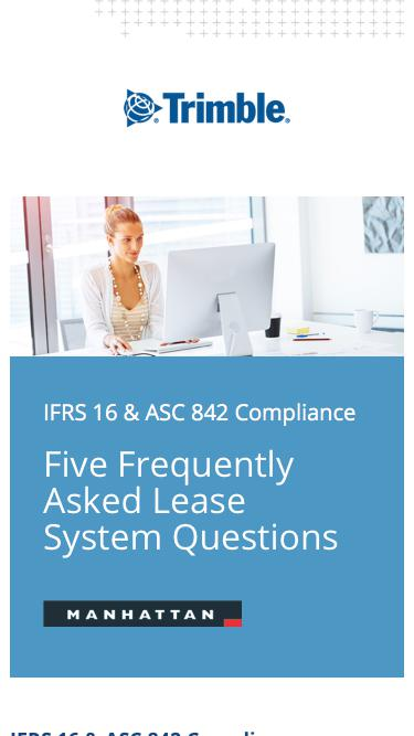 FASB/IASB - Top 5 questions frequently asked by organizations and how Manhattan can help