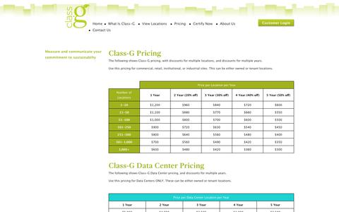 Screenshot of Pricing Page class-g.org - Pricing - captured July 13, 2018