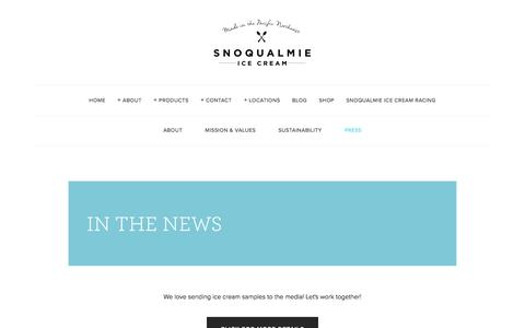 Screenshot of Press Page snoqualmieicecream.com - Press — Snoqualmie Ice Cream - captured Dec. 17, 2016