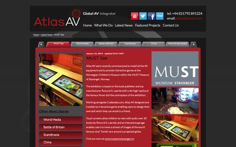 Screenshot of Press Page atlasav.com - MUST See - captured Sept. 30, 2014