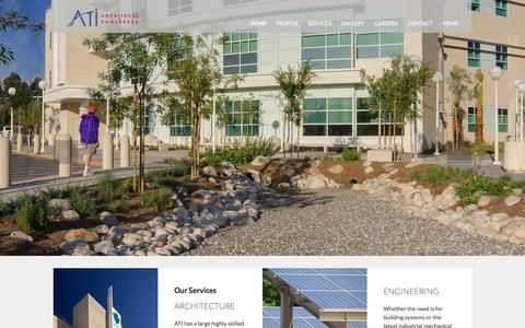 Screenshot of Home Page atiae.com - ATI Architects and Engineers | California Architectural and Engineering Firm - captured Oct. 4, 2014
