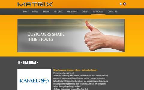 Screenshot of Testimonials Page matrix-cabinet.com - Testimonials   Matrix – The Revolutionary Storage System - captured March 17, 2016