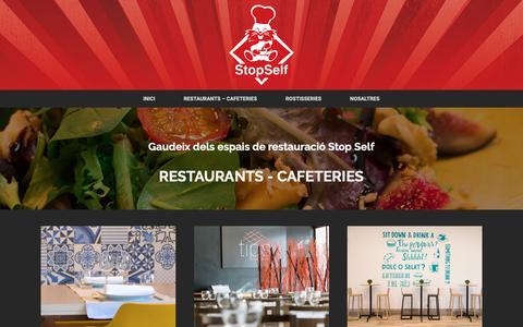 Screenshot of Home Page stopself.com - Stop Self Restauració - Restaurants, Cafeteries, Rostisseries - captured Nov. 18, 2018
