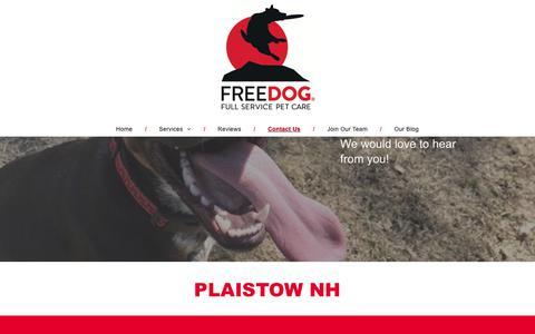 Screenshot of Contact Page freedog.us - Free Dog - captured Aug. 22, 2018