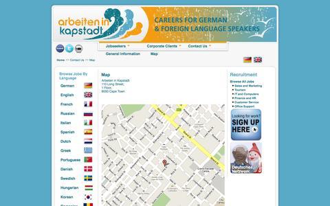 Screenshot of Maps & Directions Page arbeiteninkapstadt.com - Map - captured Sept. 22, 2014