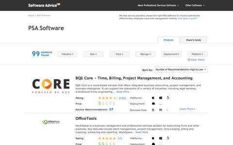 Best PSA Software - 2017 Reviews, Pricing & Demos