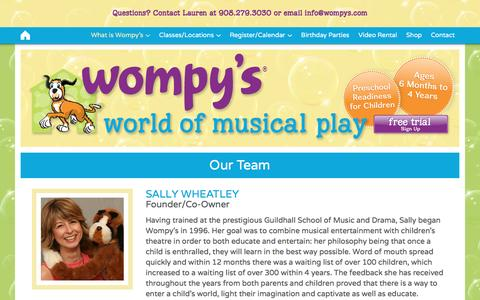 Screenshot of Team Page wompys.com - Our Team - Wompy's World of Musical Play - captured Dec. 3, 2016