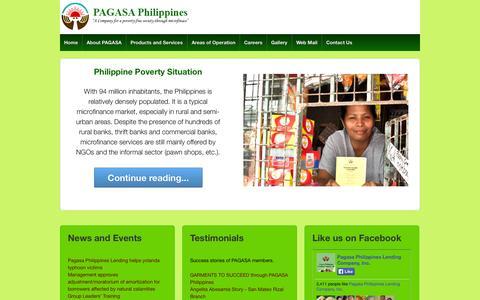 Screenshot of Home Page asa-international.com.ph - Pagasa Philippines Lending Company, Inc. - captured Oct. 1, 2014