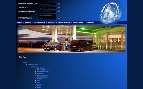 Screenshot of Site Map Page cdgltd.co.uk - Site Map - CDG Ltd - captured Oct. 3, 2014