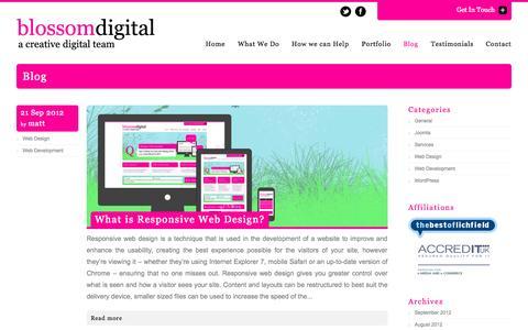 Screenshot of Blog blossomdigital.co.uk - Blog Archives | Blossom DigitalBlossom Digital - captured Oct. 5, 2014
