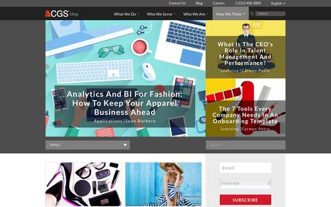 Screenshot of Blog cgsinc.com - CGS Official Blog | Application, Learning & Outsourcing Content - captured July 21, 2016