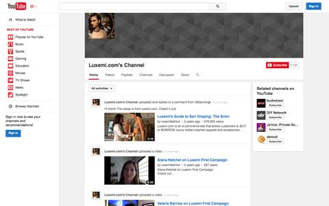Screenshot of YouTube Page youtube.com - Luxemi.com's Channel  - YouTube - captured Oct. 22, 2014