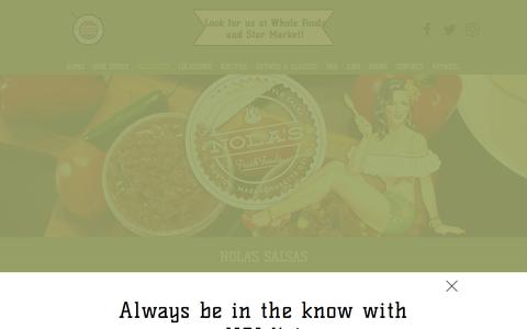 Screenshot of Products Page nolasfreshfoods.com - Nola's Fresh Foods   PRODUCTS - captured Nov. 14, 2017