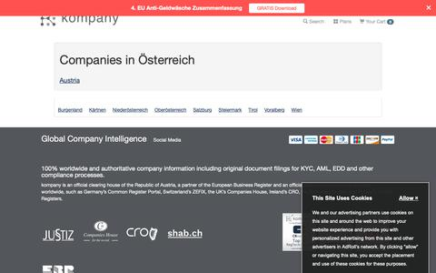Screenshot of Maps & Directions Page kompany.at - Companies in  Austria - captured Oct. 19, 2018