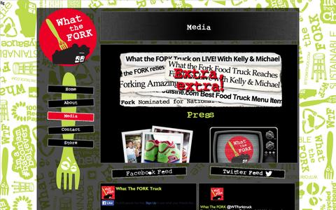 Screenshot of Press Page whattheforktruck.com - Media | What The Fork Truck - captured Oct. 26, 2014