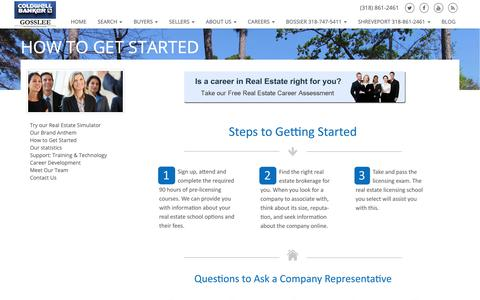 Screenshot of Jobs Page cbgosslee.com - How to Get Started - captured Sept. 28, 2018