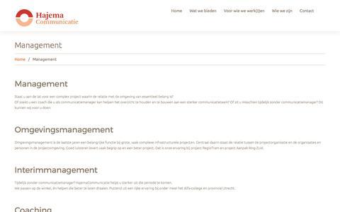 Screenshot of Team Page hajemacommunicatie.nl - Management  |  Hajema Communicatie - captured May 13, 2017